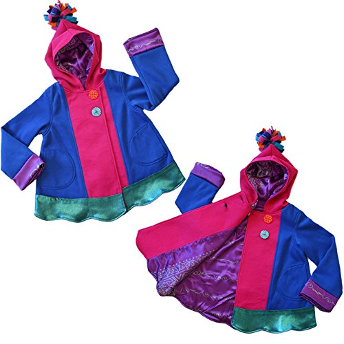 Twirly Girl Cool Jacket for Girls 13 Pockets Fleece Lined Purple Pink USA Made by TwirlyGirl