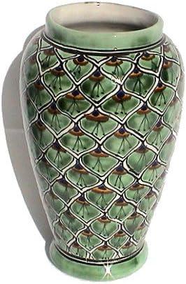 Fine Crafts Imports Peacock Mermaid Talavera Flower Vase