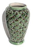 Peacock Mermaid Talavera Flower Vase