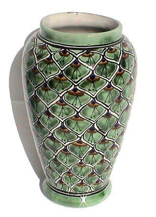 (Fine Crafts Imports Peacock Mermaid Talavera Flower Vase)