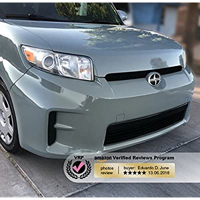 VViViD+ Elephant Grey Nardo Gray Gloss Vinyl Car Wrap Film 1 Foot x 5 Feet Roll DIY Easy to Install No-Mess Decal: Automotive