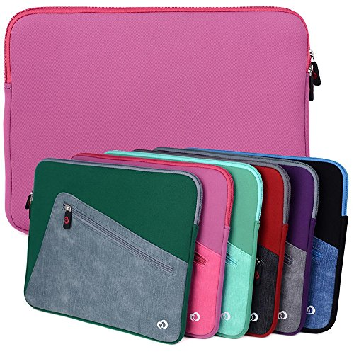 Tickle Me Pink Kroo Checkpoint Friendly Laptop Sleeve fits Dell XPS 13 9360, Inspiron 13 7000, Venue 11 Pro 7000/7140, Dell Latitude 11 5000 Series, Latitude 12 Rugged Tablet/eReader (Pink Case Leather Kroo)