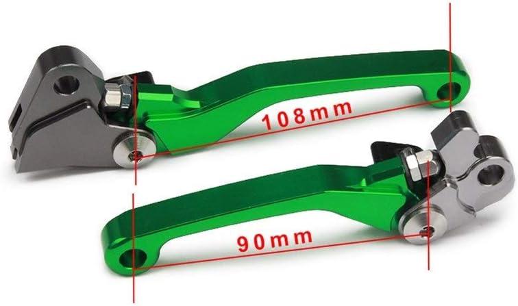 ZLDDE Accessoires Moto Moto CNC Pivot Poign/ée de Frein dembrayage for Kawasaki KX125 KX250 KX250F KX450F KX 125 250 250F 450F KDX 200 220 95 96 97 98-12 Moto Color : Green