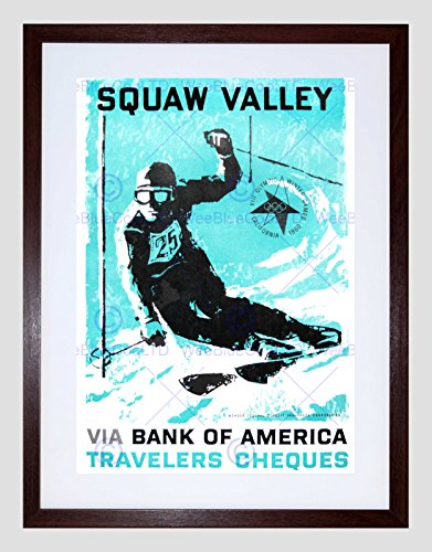 Sport AD 1960 Winter Olympic Games Squaw Valley SKI Framed Art Print B12X10135