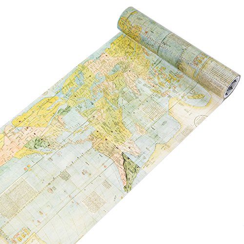 7.87 Inch x 5.47 Yard Travel Map Washi Tape Diary Decorative Stickers Scrapbooking DIY Stickers Background Sticker (Ancient Map)