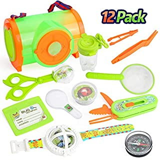 RESTCLOUD Educational Bug Catcher Kit for Kids | Bug Collection and Kids Explorer Kit Includes Butterfly Net, Bug Observation Capsule and Magnifying Glass | Science Toy for Boys and Girls