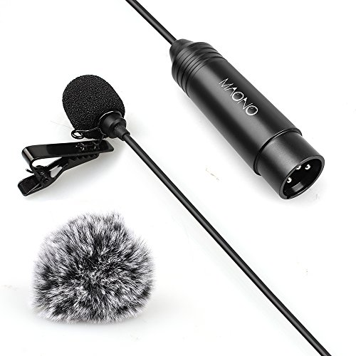 directional Lavalier Microphone for ZOOM, Camcorders with Tie Clip and Windscreens (Foam and Furry) (Tie Clip Lavalier Microphone)