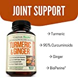 Turmeric Curcumin with Ginger & Bioperine - Best Vegan Joint Pain Relief, Anti-Inflammatory, Antioxidant & Anti-Aging Supplement with 10mg of Black Pepper for Better Absorption. 100% Natural Non-GMO - 51UNxWzulSL - Turmeric Curcumin with Ginger & Bioperine – Best Vegan Joint Pain Relief, Anti-Inflammatory, Antioxidant & Anti-Aging Supplement with 10mg of Black Pepper for Better Absorption. 100% Natural Non-GMO
