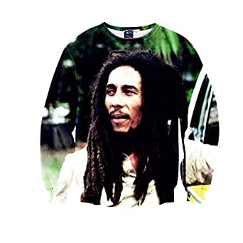 TDTS006-Bob Marley NO.1 3D T-shirt Hoodie Sweater Sweatshirt Pullover (M)
