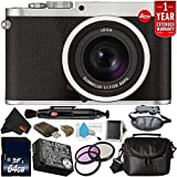 Leica Q (Typ 116) 24.2 MP Digital Camera (Silver Anodized) 19022 Bundle with 64GB Memory Card + 49mm 3 Piece Filter Kit + 1 Year Extended Warranty