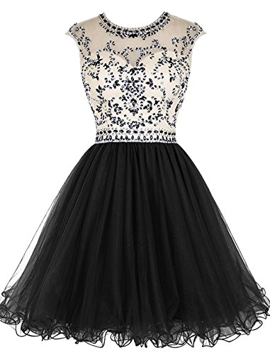 XingMeng Homecoming Black Gowns line Crystal Short Prom Beaded Party Dresses A qrHRPTwq