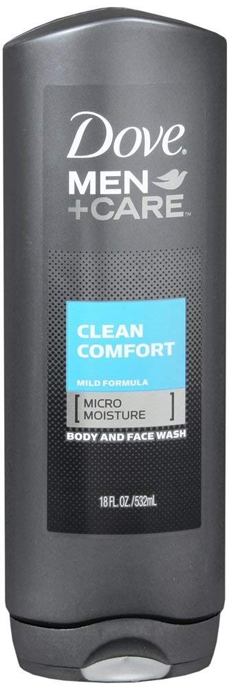 Dove Men +Care Body & Face Wash, Clean Comfort, 18 Fl Oz