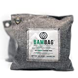 2 Pack- 200gram Moso Natural bags by BAMBAG. Car Air Freshener. Charcoal Bags Odor Absorber. Eliminating Odors in Refrigerators, Gym Bags, Travel Bags, Bathrooms, Cars etc..