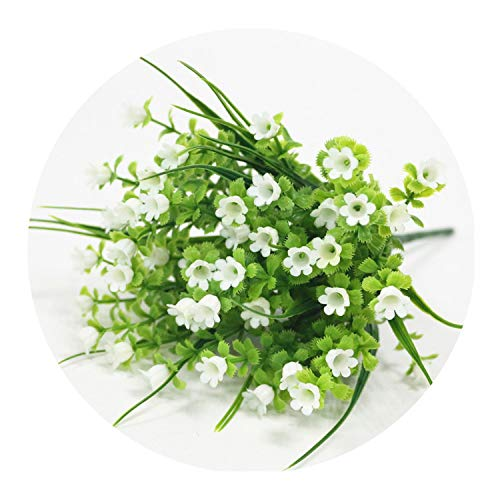 Valley Bouquet The Of Lily (Simulation Lily of The Valley Bouquet Artificial Plastic Fake Flowers Wedding DIY Flores Home Party Feast Decor Flower,White)