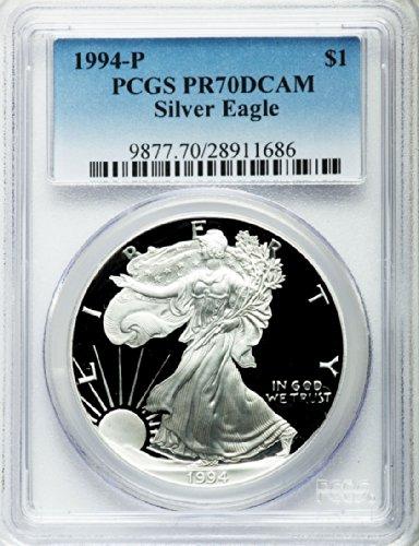 1994 P American Silver Eagle Dollar DCAM PCGS PR70