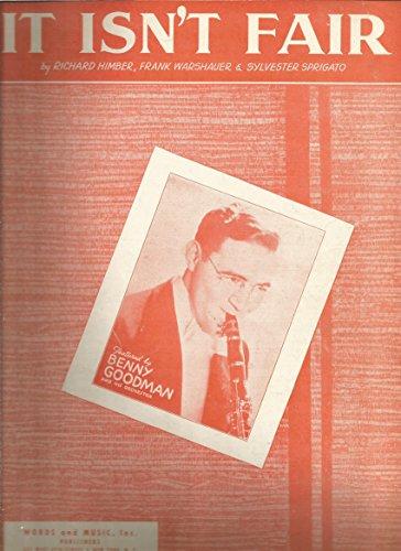 Sheet Music 1933 It Isn't Fair Benny Goodman 321