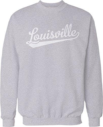 NOFO Clothing Co Louisville Script Baseball Font Crew Neck Sweatshirt, S ()