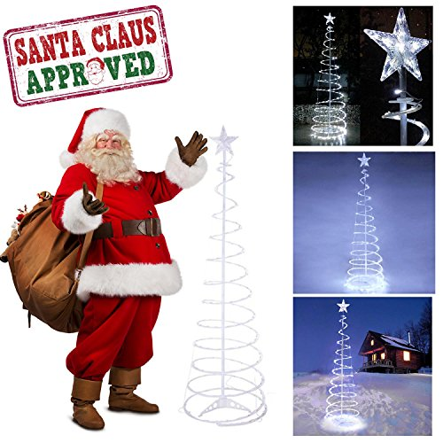Outdoor Lighted Spiral Trees in US - 4