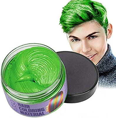 Mofajang Hair Wax Dye Styling Cream Mud Natural Hairstyle Color Pomade Washable Temporary Green Buy Online At Best Price In Uae Amazon Ae