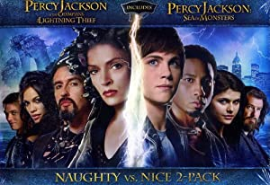 percy jackson naughty vs nice 2 pack dvd set both dvd movies togther lightning. Black Bedroom Furniture Sets. Home Design Ideas