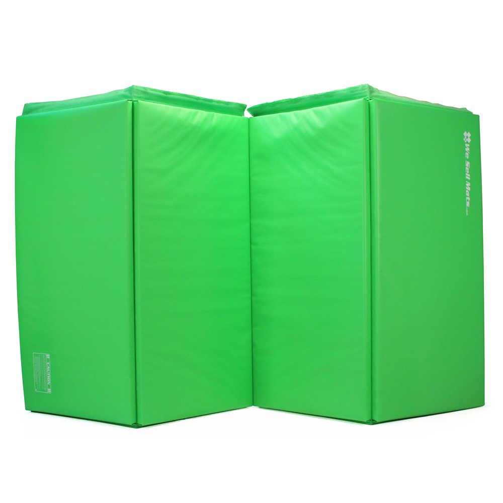We Sell Mats GM4x8LMGv4-50M Lime Green 2'' Thick Gymnastics Tumbling Exercise Folding Martial Arts Mats with Hook & Loop Fasteners On 4 Sides Crosslink PE Foam Core by We Sell Mats (Image #2)