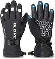 Winter Ski Gloves, 3M Thinsulate Warm Windproof Waterproof Gloves for Men Women, Touchscreen Cold Weather Outd