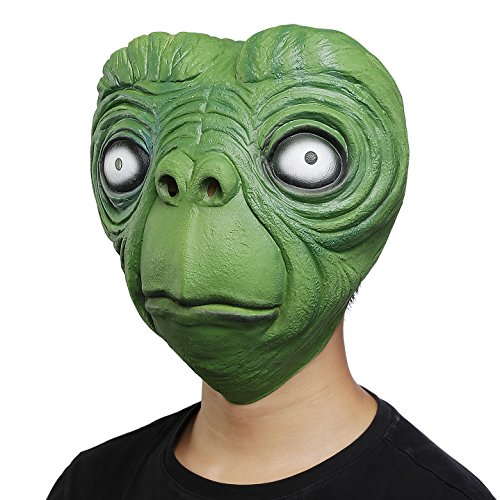 Make A Horse Head Costume (Ylovetoys Natural Latex Mask Halloween Costume Head Mask Cosplay Party Decorations (Green Face))