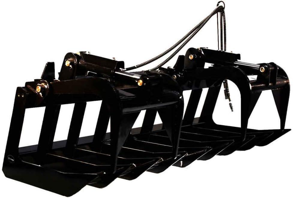 "60"" Heavy Duty Root Grapple Bucket Skid Steer Attachment"