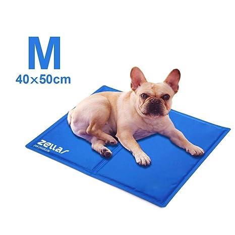 Zellar Alfombrilla de Refrigeración para Animales, Enfriamiento para Camas de Mascotas, No tóxico, Auto, para Perros y Gatos, Medio, 40 x 50 cm