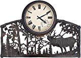 Bugling Elk in Mountains Horizontal Outdoor Clock
