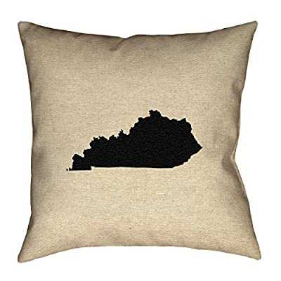 "ArtVerse Katelyn Smith Kentucky 16"" x 16"" Pillow-Faux Linen (Updated Fabric) Double Sided Print with Concealed Zipper Cover Only"