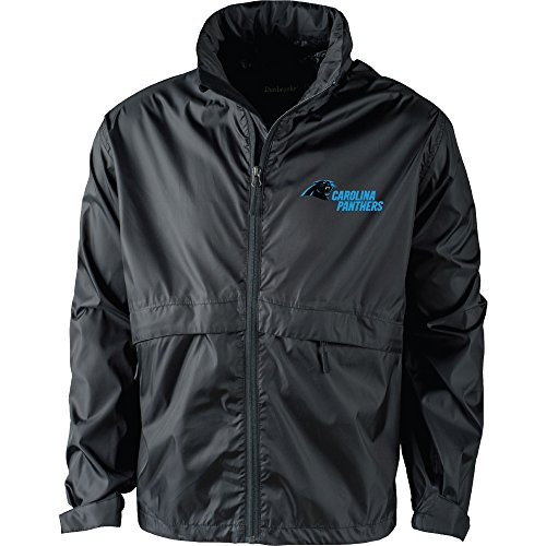 - NFL Carolina Panthers Men's Sportsman Waterproof Windbreaker Jacket, Black, X-Large