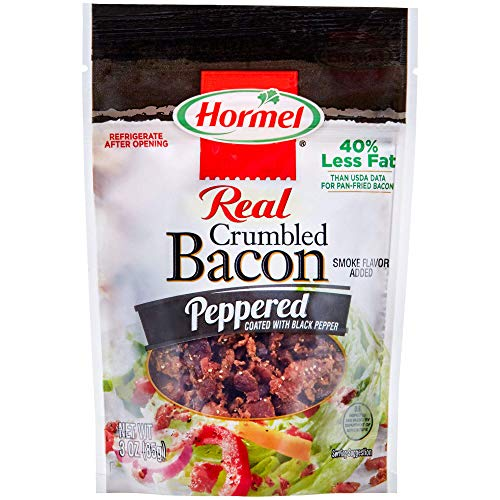 (Hormel Bacon Toppings Crumbled Bacon Peppered, 3 Ounce, (Pack of 8))