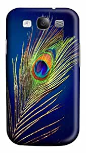 peacock feather Polycarbonate Hard Case Cover for Samsung Galaxy S3/Samsung Galaxy I9300 3D