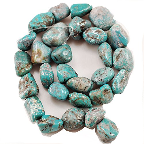 10-15mm Blue Natural Kingman Turquoise Crystal Energy Stone Healing Power for Jewelry Making Nugget Beads 15