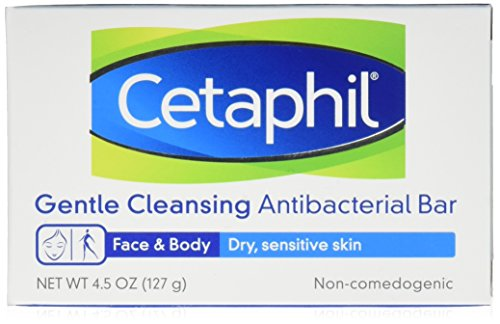 Gentle Cleansing Bar (Cetaphil Antibacterial Gentle Cleansing Bar, 4.5 Ounce Bar (Pack of 3))