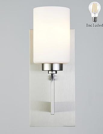 Smart Lighting-Shupregu, Brushed Nickel Modern Wall Sconces Vanity ...