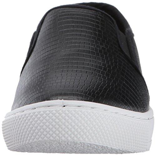 Qupid Dames Roxbury-02 Fashion Sneaker Zwart Hagedis Polyurethaan