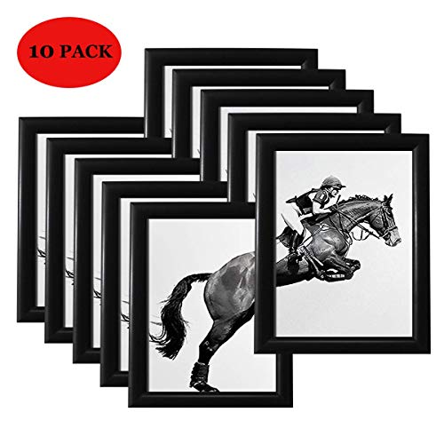 YDisplay Snap Poster Frame 8.5x11 inches Diploma Picture Frame Aluminum Wall Frame for Home Office Market Black,10 Pack