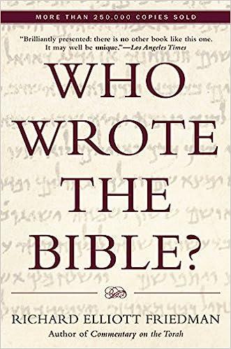 who wrote the bible richard elliott friedman 9780060630355
