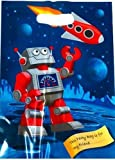 Space rocket, Robot design party bags. spaceship loot bags pack of 10