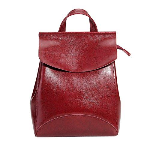 à femme cuir Sac dos en DISSA Bordeaux fashion 8963 main portés LF Sac qSnPytR