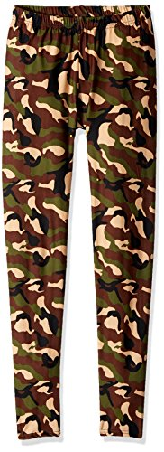- Carnival Women's Full-Length Printed Soft Microfiber Legging, Camo 2, MD