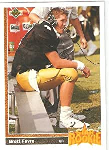 1991 Upper Deck Star Rookie # 13 - Brett Favre - Rookie Football Card - Shipped In Protective Display Case!