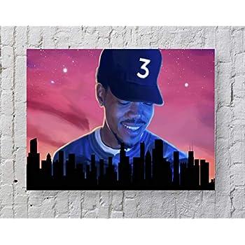 E-16 Chance The Rapper Acid Rap Hip Hop Music Album Fabric Poster Print