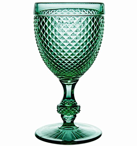 Vista Alegre Bicos Green Set of 4 Water Goblets