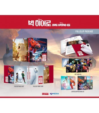 BIG HERO 6 (3D/2D Blu-ray Steelbook; NovaMedia Exclusive FULL SLIP; Only 500 Worldwide) (Big Blu Ray Six Hero Dvd)