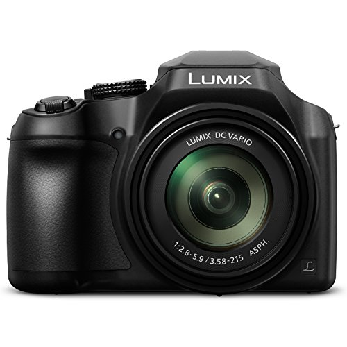 PANASONIC LUMIX FZ80 4K Point and Shoot Camera, 60X (20-1200mm) Power O.I.S. Lens, 18.1 Megapixels, 3 Inch Touch LCD, DC-FZ80K (USA BLACK)