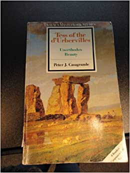 Book Tess of the D'Urbervilles: Unorthodox Beauty (Twaynes Masterwork Studies)