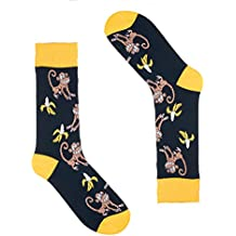 Animal Socks for Men - Fun Colorful Dress Socks - Premium Cotton - Size 8-13 (One Pair)